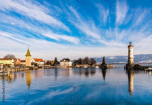 Panorama Hafen Lindau Bodensee - 247940421
