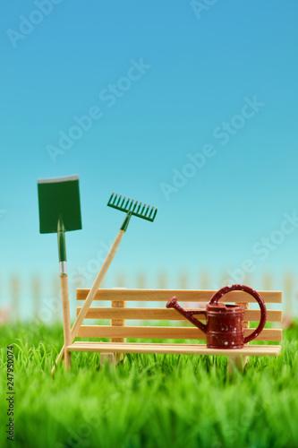 Wektzeug für Gartenarbeit im Garten