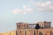 Athens, Parthenon ancient Greek temple on Acropolis hill