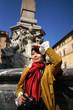 Touriste asiatique à Rome