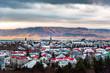 Panoramic view of Reykjavik Icelandic capital