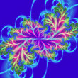 Psychedelic 3D abstract design. Flowering branch, fractal art - 247972209