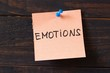 Emotions word on the sticker