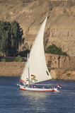 Sailboats for tours on the Nile , Egypt - 247984216