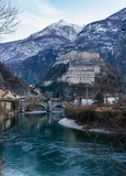 Medieval castles of Italy - Bard fortress in Aosta Valley