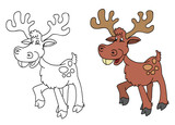 coloring pages for childrens with funny animals,deer