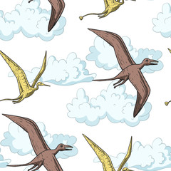 Pteranodon Dinosaur in the sky.