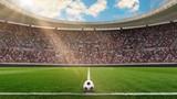 fussballstadion in der sonne - 247991612