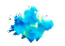 """Постер, картина, фотообои """"blue watercolor """""""