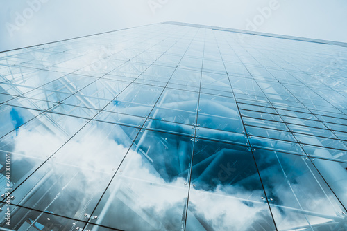 office buildings. modern glass silhouettes - 248003616