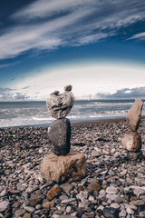 Stones balance. Well-balanced of pebbles