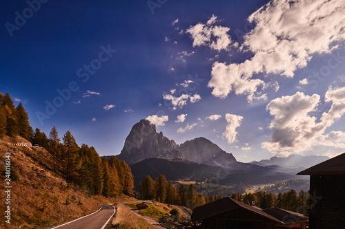 Panorama in Trentino Alto Adige con Nuvole