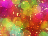 painted bubbles and hearts of dreamy flying - 248020618