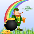 Elegant greeting card design with creative shiny text Happy St. Patrick's Day on green background. - Vector - 248025443