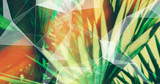 Palm Leaves. Geometric Abstract design. Polygonal tropical background. - 248034027
