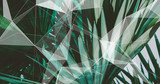 Palm Leaves. Geometric Abstract design. Polygonal tropical background. - 248034205