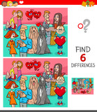 find differences game with characters in love - 248046643