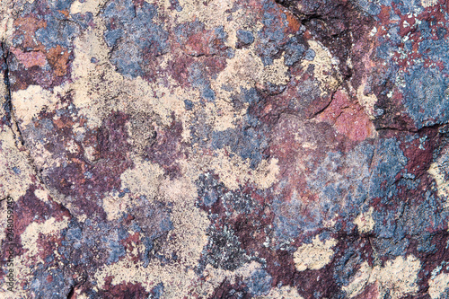 Stone background texture, abstract formation of mineral rock in marine environment - 248059249