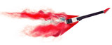 Red electric guitars - smoke trail effect - 3D Illustration
