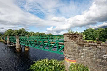 Schottland - Fort William - River Lochy - Soldiers Bridge © Uwalthie Pic Project
