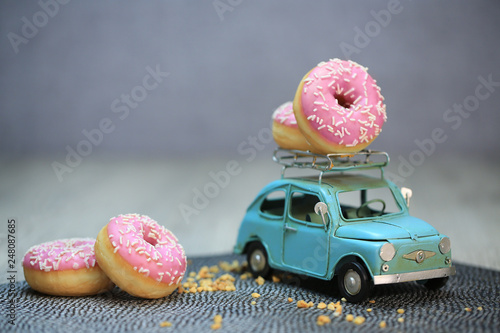 Leinwandbild Motiv donuts,beignet