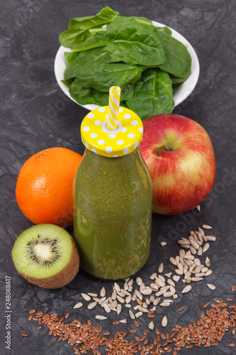 Healthy smoothie from fruits and vegetables as source vitamins and minerals © ratmaner