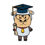 cute little sheep character - 248095622