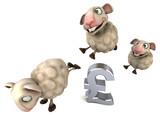 Fun sheep - 3D Illustration - 248106850