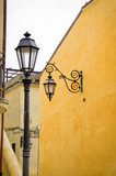 Street lamps in a traditional Mediterranean alley - 248119202