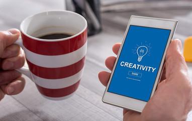 Creativity concept on a smartphone © thodonal