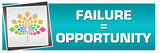 Failure Is Opportunity Turquoise Floral Left  - 248137459