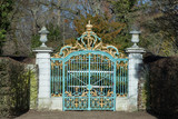 gate at  Schwetzingen Palace gardens - 248145485