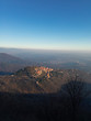 Panoramic view of the village of Santa Maria del Monte in Varese in Italy.