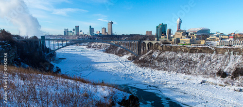Niagara Falls skyline in winter - 248148036