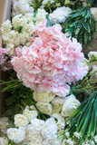 White and pink wedding flowers - 248156628