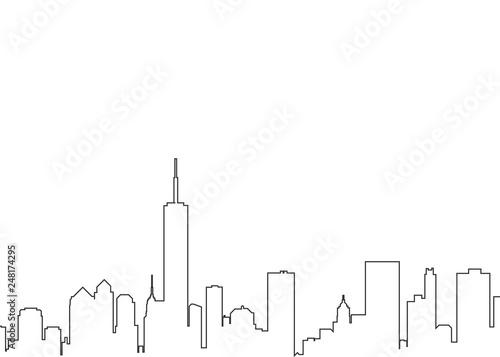 City landscape line - 248174295