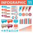 Infographic Elements. Vector illustration. Set 11.