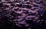 Abstract purple anodized metallic cubes background. 3D render