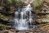 Erie Falls in Ricketts Glen State Park of Pennsylvania