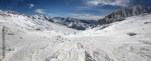 summit landscapes in winter season