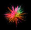 Quadro Multi colored powder explosion isolated on black