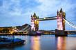 tower bridge at night, London, UK - 248235296