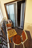 Balcony of hotel with furnitures - 248242643