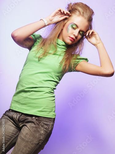 Beautiful dancing female. - 248243802