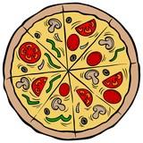 Pizza Pie - A vector cartoon illustration of a restaurant Pizza Pie.