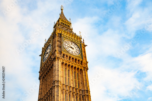 big Ben and Houses of Parliament  London  UK - 248254637