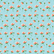 Seamless Pattern with water lilies  - 248263028