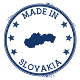 Made in Slovakia stamp. Grunge rubber stamp with Made in Slovakia text and country map. Fancy vector illustration.