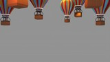 toon kids on hot air balloon ride transition - 248277014