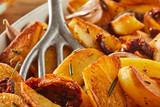Rosemary fried potato wedges - 248293280
